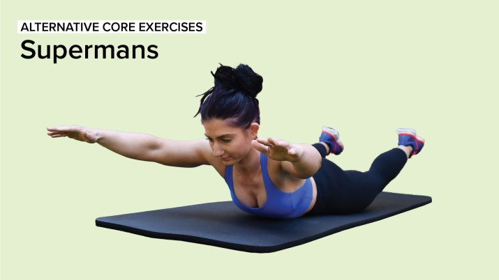 Alternative Core Exercises: Supermans
