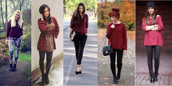 burgundy sweater borgoña