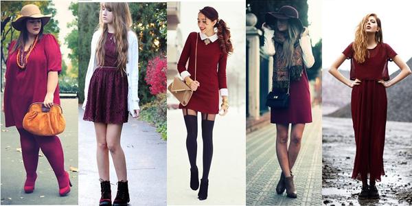 burgundy vestido borgoña