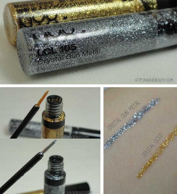 liquid crystal delienador glitter nyx 1