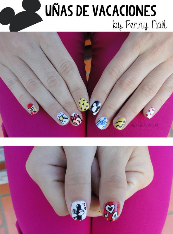 nails uñas disney penny nail hache beauty