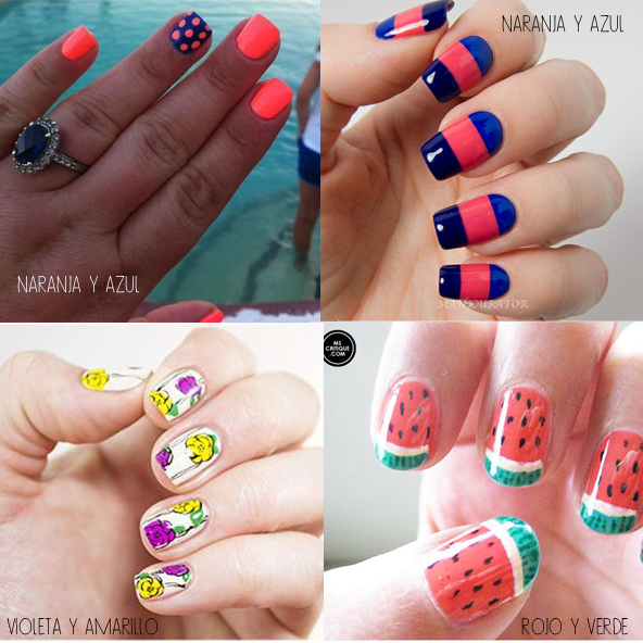 combinar colores nail art 6