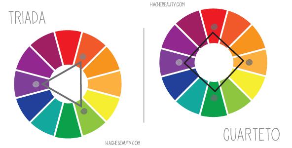 colores cuarteto triada