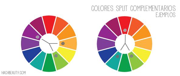 colores split complementarios