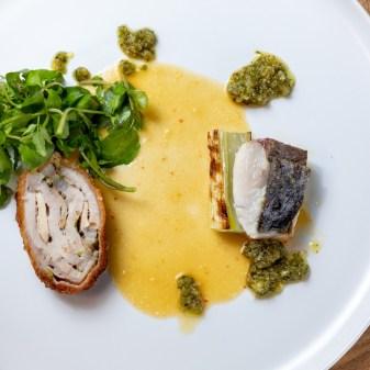 魚a n d 肉料理 盛合せ