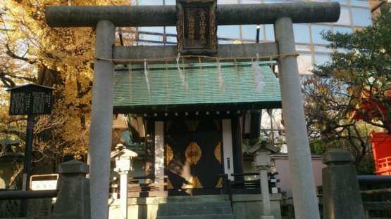 神田明神の境内にある三宿稲荷神社と金刀比羅神社