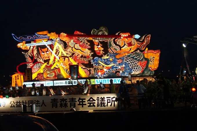 ダイヤモンドプリンセスの東北の旅ツアーでの青森ねぶた祭