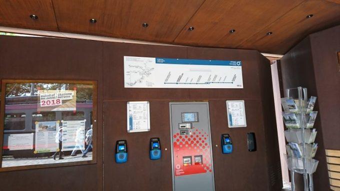 イタリアボルツァーノの街からロープウェイで来るソプラボルツァーノのレノン鉄道の駅
