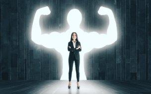 自信に溢れる女性