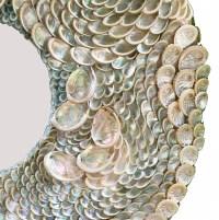 Silver Abalone Sea Shell Mirror | Hacienda