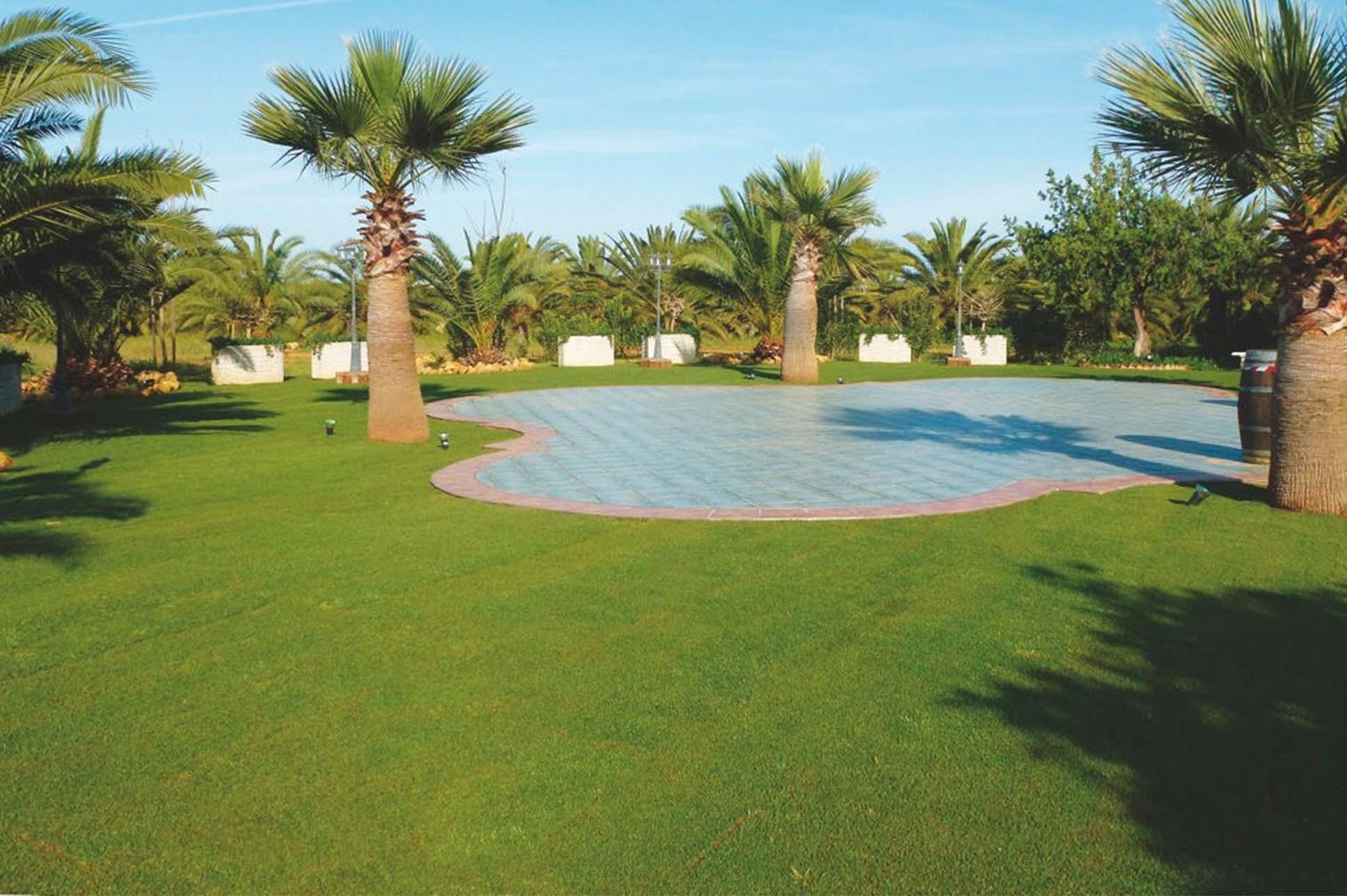 Jardín con pista de baile