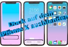 Dock auf dem iPhone X ausblenden - So funktioniert's, Anleitung, Hack4Life, Fabian Geissler, Anleitung, Tutorial, Wallpaper, Trick, iOS 11, iOS 11.1