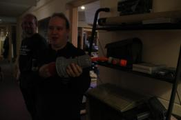 480V 3-phase to garden hose adapter.