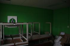 It even came with a green screen room!