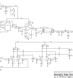 schematic of battery operated tube preamp  [ 2794 x 2159 Pixel ]