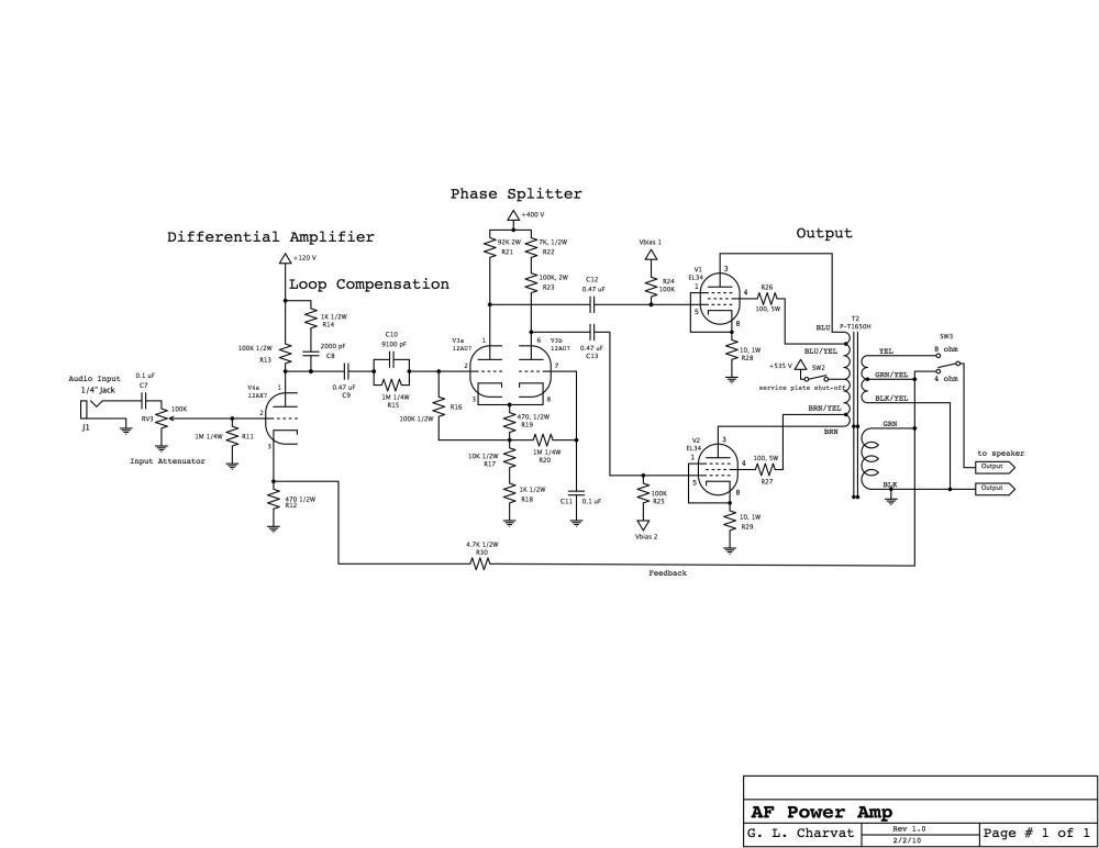 medium resolution of power amp schematic