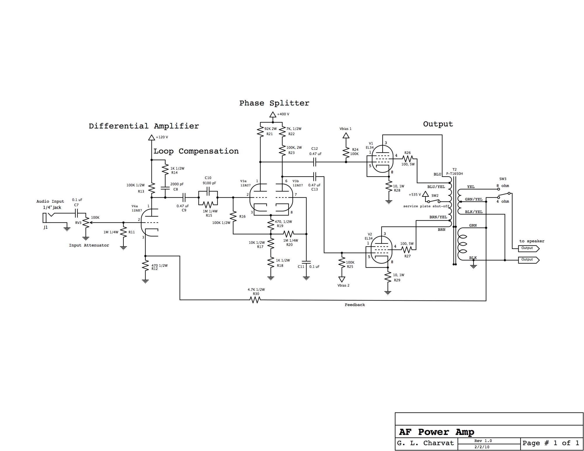 hight resolution of power amp schematic