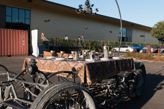Pedal powered fine dining.