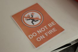 Do Not Be On Fire