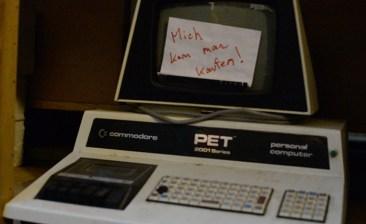 Plain 'ol Commodore PET. [Hans] has serial no. 1 at home.