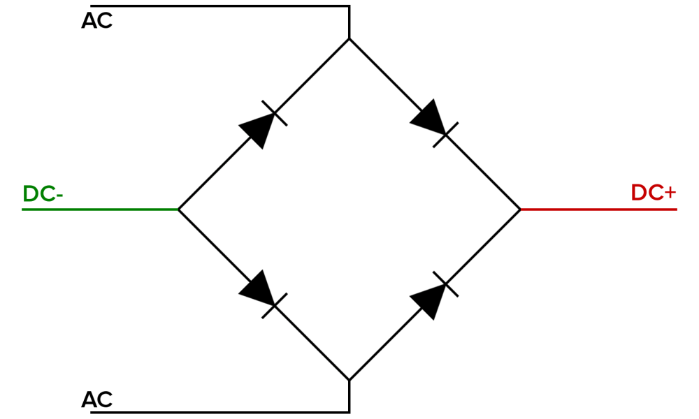 medium resolution of bridge rectifier shunt before to the left is a schematic
