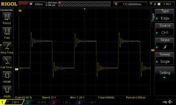 500 kHz recovery signal