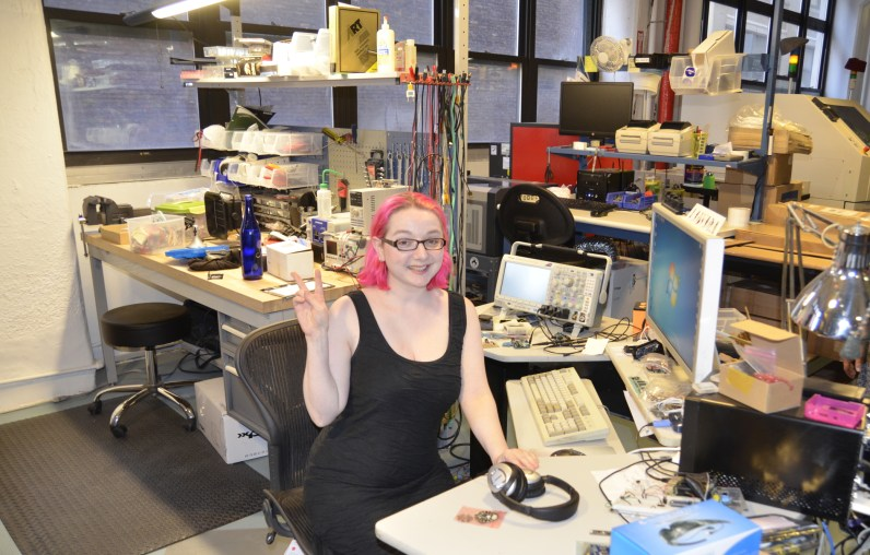 [Limor] at her desk