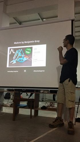 Anool talking about the Hackaday Prize