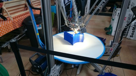 Tiny chair being printed on the Part Daddy.