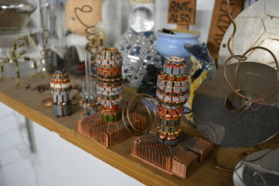 Art made of old motor commutators