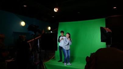 Green screen fun courtesy of UNO Criss Library.