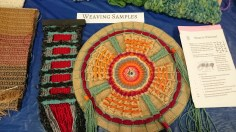 Samples from the Omaha Weavers and Spinners Guild.