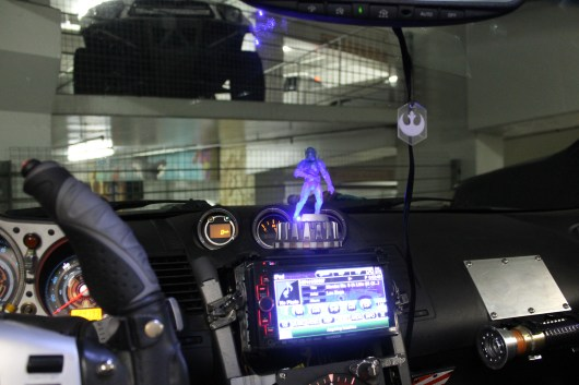 Hologram for receiving dashboard communications