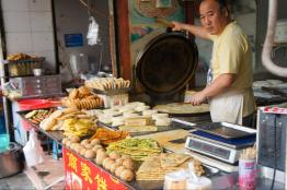 Chinese breakfast pancakes and pastries