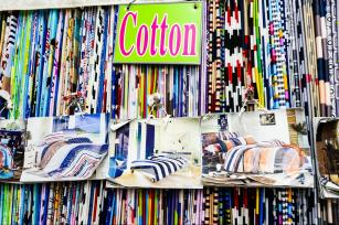 Cotton fabrics in patterns and colors