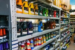 It's possible to buy oil paints by the liter since the artists go through so much of it. One jug is about $12.