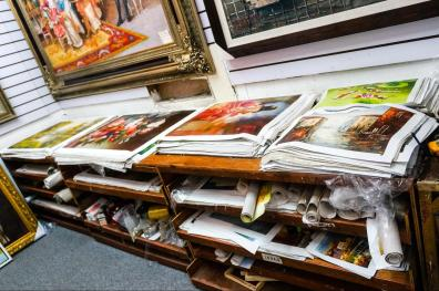 Oil painting canvases can be bought in bulk.