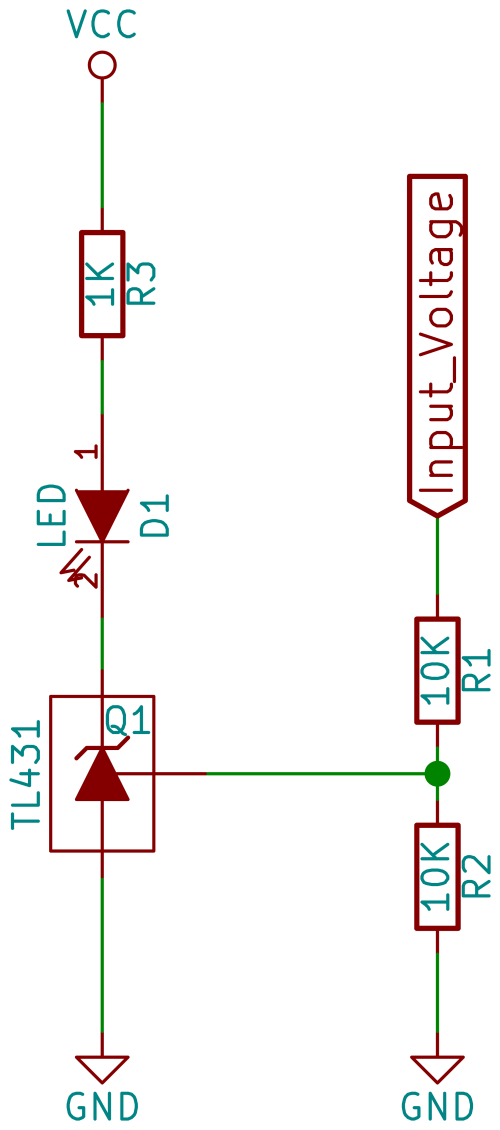 small resolution of in the simplest circuit you could drive an led with a tl431 connect an led and a current limiting resistor up to the cathode and ground the anode of the
