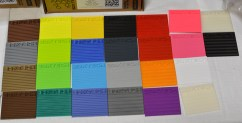 Filament color swatches from 3DXtech