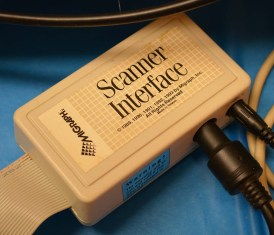The hand-held scanner interface. The scanner itself outputs serial data, this scanner interface provides power to the scanner and converts the serial into something the Amiga can understand.