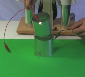 Taking apart a dissectible Leyden jar