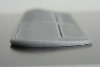 Printed wing, tip end
