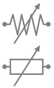 Rheostat electrical symbols