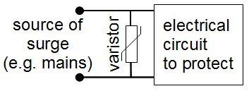Varistor protected circuit