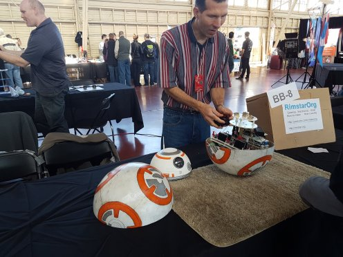 Explaining BB-8 at the Ottawa Maker Faire