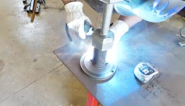 belt-grinder-flywheel-welding
