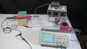 Spark length measuring setup