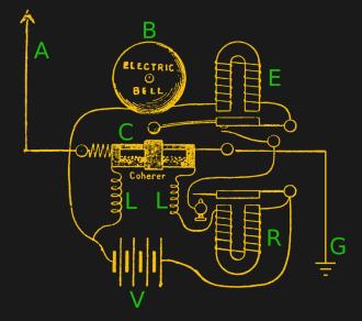 Popov's lightning detector circuit