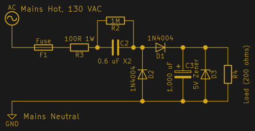 small resolution of it is subjected to continuous high alternating voltages and if it fails short the 5 v output is at mains voltage