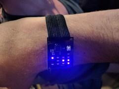 Binary wristwatch